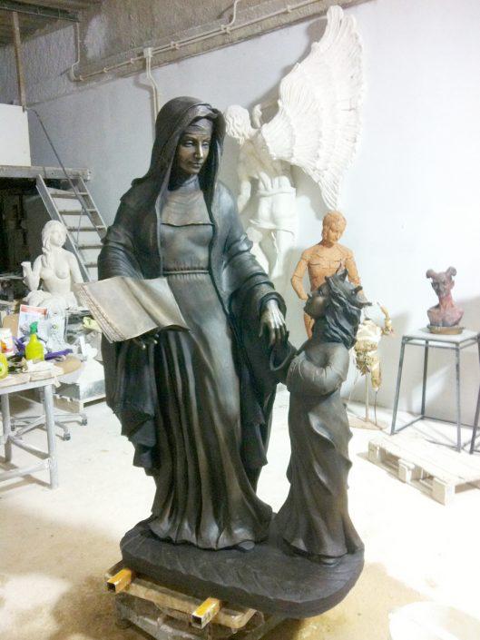 imágenes religiosas bronce