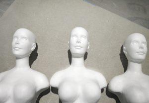 figuras de resina en serie