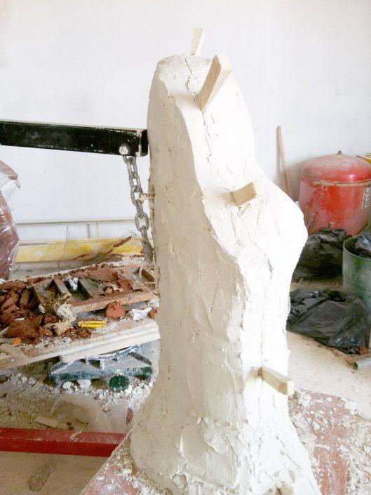 Molde de silicona con contramolde de escayola