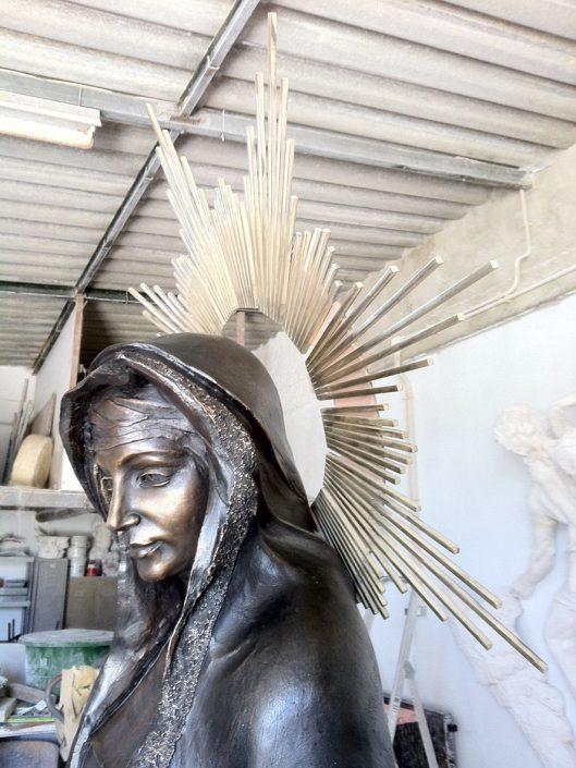 Escultura bronce pátina