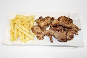 replicas de platos de comida