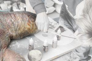 proceso restauracion esculturas de animales
