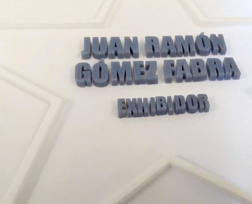 placas homenaje modernas