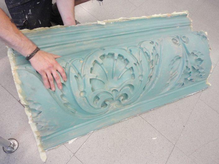 molde de silicona para molduras de escayola