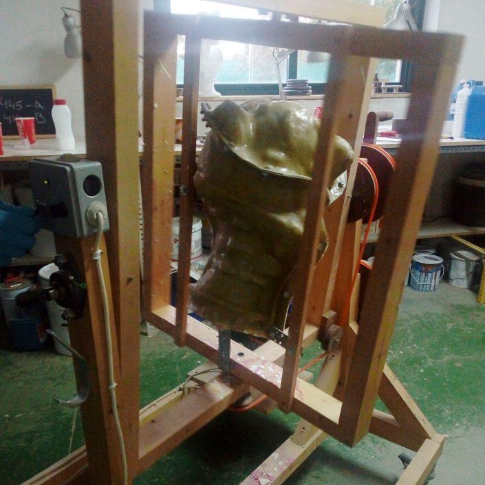 fabricación de figuras mediante rotocasting