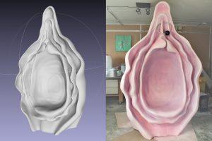escultura sillón vagina
