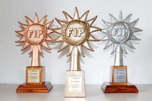 trofeos acabado oro playa y bronce