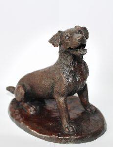 escultura de resina acabado bronce