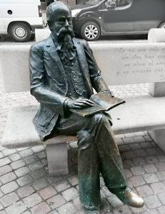 escultura de bronce zorrilla