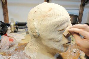 modelado de cabeza gigante
