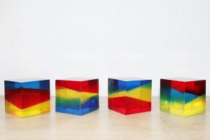 trofeos cubos transparentes