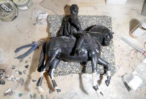 reparación de esculturas